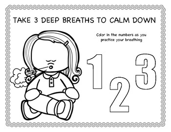Practice Breathing Coloring Sheet and Poster by Positive