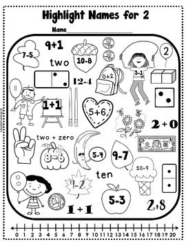 Practice Makes Perfect: Names for Numbers Worksheets by