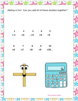 Practice Worksheet To Make Adding Doubles Fun By The