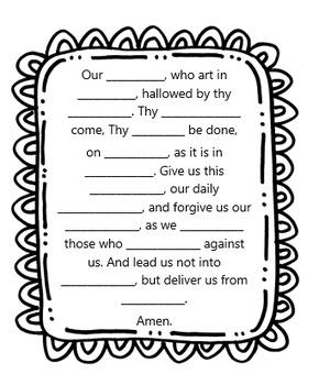 Prayer Worksheet Bundle by Little Miss Catechist Blog Shop