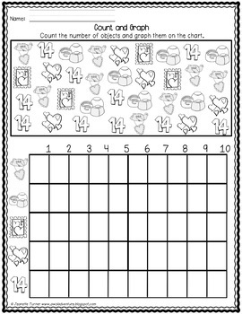 Math Activities and Worksheets for Valentine's Day Pre-K
