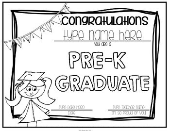 Pre-K and Preschool Graduation Certificates & Invitations