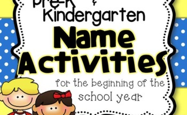 Name Activities For The Beginning Of The School Year By