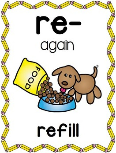 Prefixes Posters and Picture Cards for Center Activities by Miss Giraffe