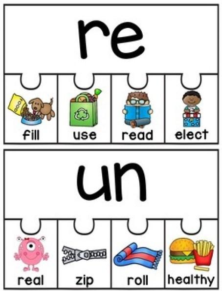 Prefixes and Suffixes Puzzles (Fun Grammar Activities!) by Miss Giraffe
