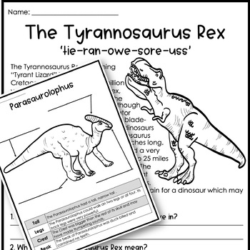 Dinosaur Prehistoric Nonfiction Informational Text Unit by