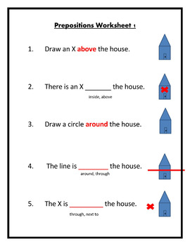 Preposition Worksheets Fully Editable By Ahsl Speech And