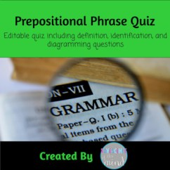 Diagram Prepositional Phrases Light Wire Phrase Test Identify List And Tpt