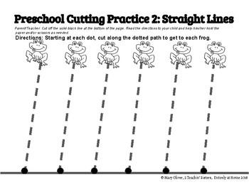 Preschool Cutting Practice Activity Packet by 2 Teachin