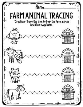 Preschool Farm Theme Printable Worksheets by The Keeper of