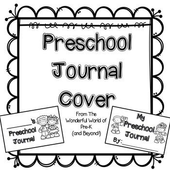 Kindergarten Portfolio Cover Page Sketch Coloring Page