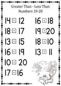 Preschool - Kindergarten Math- Greater-Than, Less Than ...