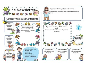 We research and generate 85% of the newsletter content each month, leave space for you to submit service specific information and deliver the template. Top Five Preschool Newsletter Examples