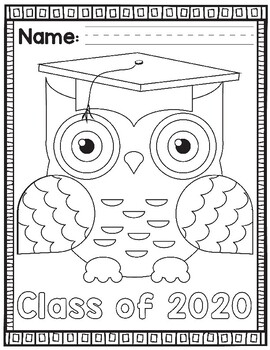 Preschool / Pre-K / Kindergarten Graduation Activity Pack