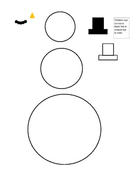 Preschool snowman template and lesson- Winter by Teacher