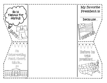 Presidents Day Foldable Activity Pack by Classroom