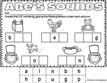 Presidents Day Literacy and Math Centers by KooKoo