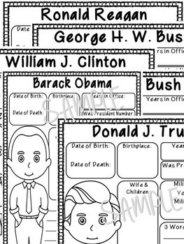 Presidents Research Report Writing Project Common Core by