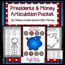 Presidents and Money Articulation Packet