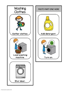 Pretend Play Visual Schedules: Laundry (Autism) by