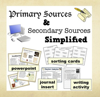 Primary & Secondary Sources Simplified – PPT Printables Bundle