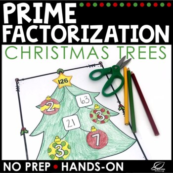 Christmas Math Prime Factorization By Leaf And STEM