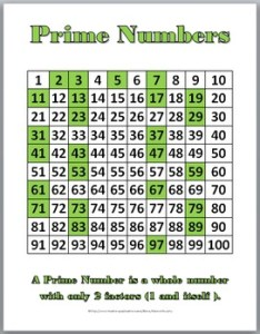Prime and composite number charts student worksheets also by marcia rh teacherspayteachers