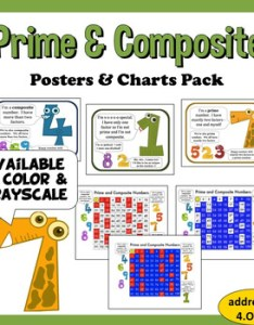 also prime and composite numbers  charts posters by rogue algorithm rh teacherspayteachers