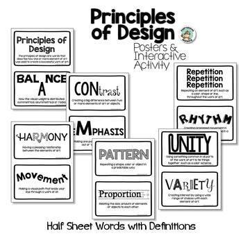 Principles of Design Posters & Interactive Sketchbook
