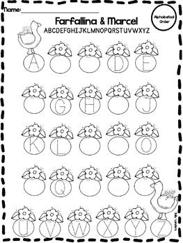 Print & Go Pack! FARFALLINA & MARCEL {Kindergarten Common