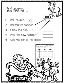 Print, Roll and Play Dice Activities (Christmas Edition