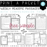 Reading Comprehension Passages Worksheets & Teaching
