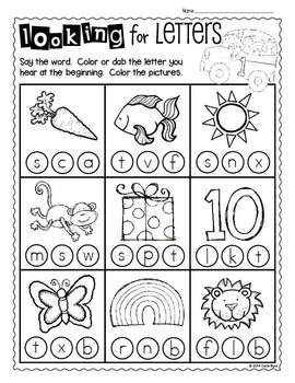 Print and Go! Back to School Math and Literacy (NO PREP
