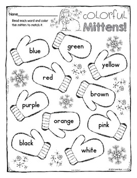 FREEBIE! Print and Go! Winter Math and Literacy (NO PREP