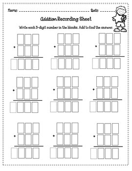 Print-n-Go 3-Digit Addition and Subtraction Card Game by