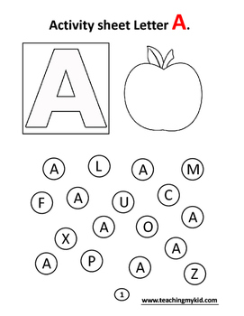 Alphabets coloring activity book by TeachingmykidResources