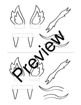 printable chinese dragon puppet