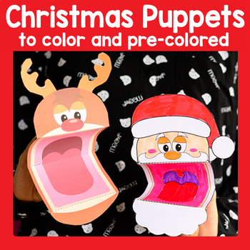 Printable Christmas Puppets Christmas Craft Santa