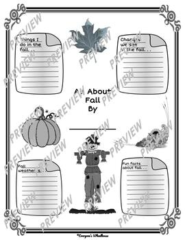 Printable Fall Infographic Graphic Organizers Bilingual