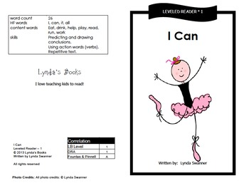 Printable Guided Reading Books- Level 1 DRA by Reading