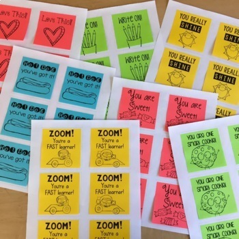 Printable Post-It Notes by Lucky to Be in First by Molly