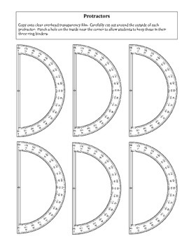 Geometry: FREE Printable Protractors Template by