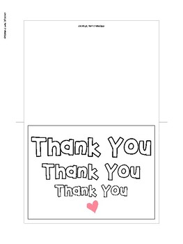 Printable Thank You Cards for Parents, Teachers, and