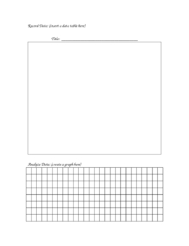 Printable for Experimental Design (Template) by Brown's