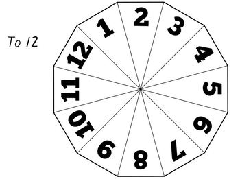 Printable number spinners (to 5, 6, 10 and 12) by Made for