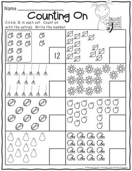 Printables September Print and Do- No Prep Math & Literacy