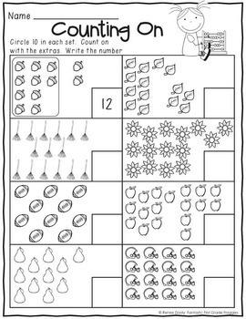 1st Grade Morning Work NO PREP September Worksheets by