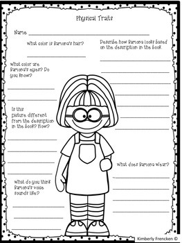 Book Companion to use with any Ramona Quimby book by