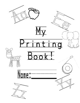 Printing Practice book by 4 by 4 Math and Teaching