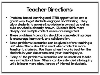 Problem Based Scenarios and STEM Activities-4th by
